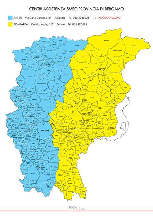 SMEG Centri assistenza provincia BG
